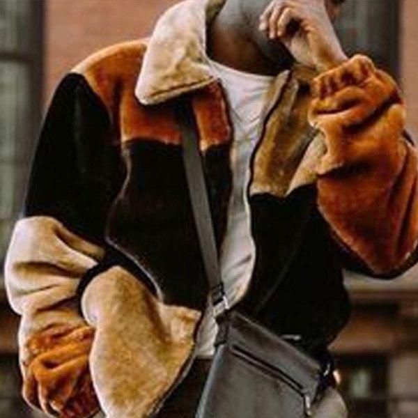 Lapel Long Sleeve Brown Jacket Vivolot Com In 2020 Brown Jacket Long Sleeve Jackets