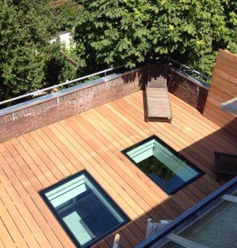 Flushglaze Beloopbaar Glas - Glazing Vision Europe – Behoudt de ruimte op het dakterras en brengt een zee van daglicht in de ondergelegen ruimte.