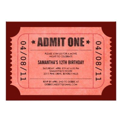Best 25+ Movie ticket template ideas on Pinterest Ticket - admission ticket template