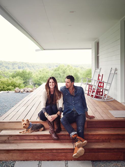 Thanks to Matthew Hufft, their envelope-pushing architect and longtime friend, Hannah and Paul Catlett have a new home in southwestern Missouri that's a fresh, unconventional take on the traditional farmhouse. Photo by: Joe Pugliese