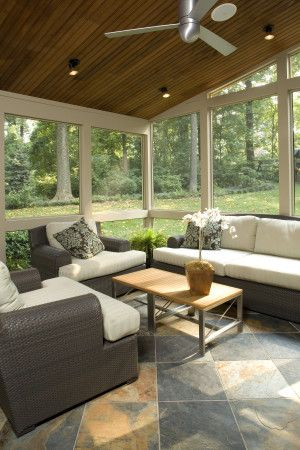Screened Porch with Tile