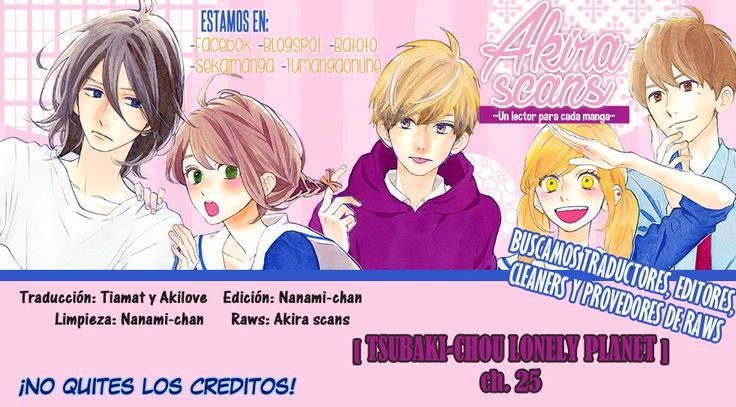 Tsubaki Chou Lonely Planet Capítulo 25 página 1 - Leer Manga en Español gratis en NineManga.com