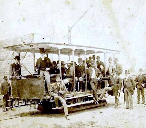 Melbourne's first electric tram - built in 1889 by the Box Hill and Doncaster Tramway Company Limited
