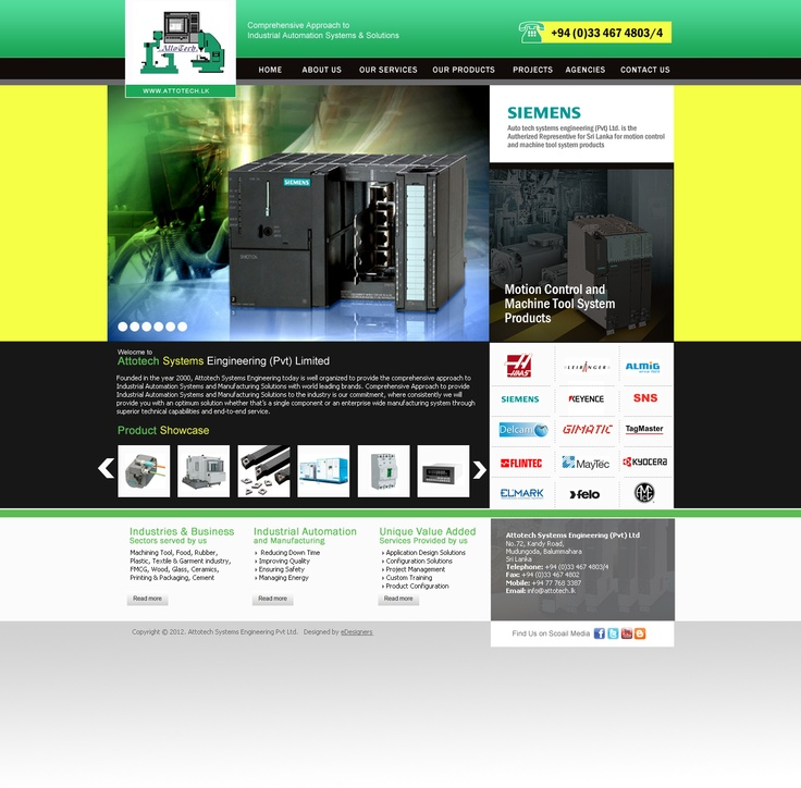 Product Portal with a cart system for Attotech Engineering Sri Lanka by eDesigners.