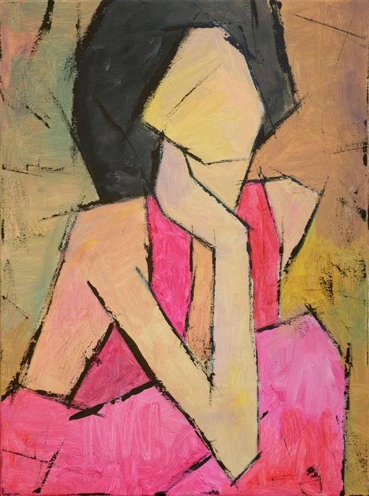 "UGallery.com | Pretty Woman by Tanya Grabkova | acrylic painting | 24"" h x 18"" w |"