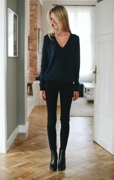 PREMIUM Granatowy sweterek - Wszystkie - MLE Collection