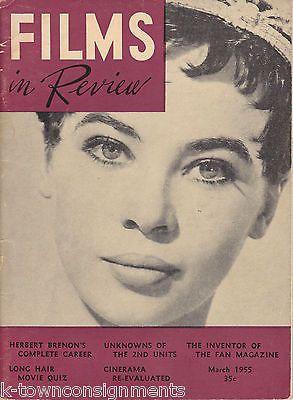 FILMS IN REVIEW GLASS SLIPPER EAST OF EDEN MOVIE VINTAGE FILM MAGAZINE 1955