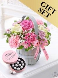Mother's Day Petite Basket With Champagne Truffles