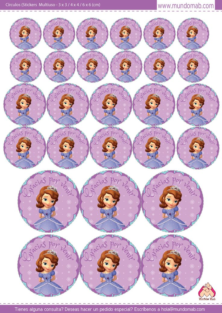 Kit gratis para imprimir princesa sofia