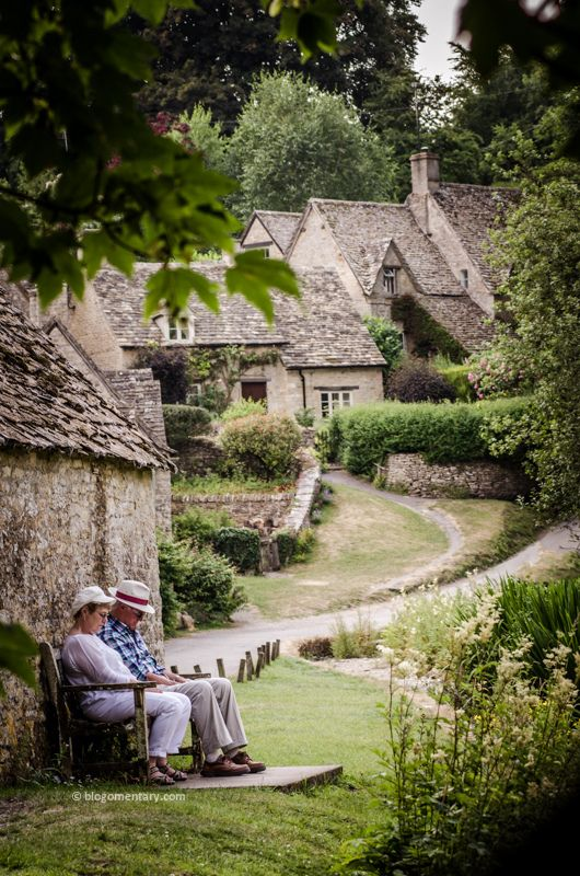 Cottages in Bibury, The Cotswolds, Gloucestershire, UK