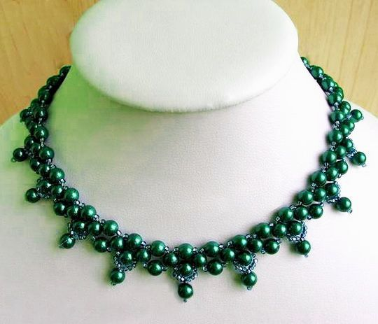 Free pattern for necklace Nataly