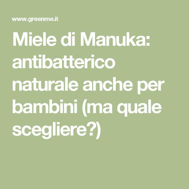 Miele di Manuka: antibatterico naturale anche per bambini (ma quale scegliere?)