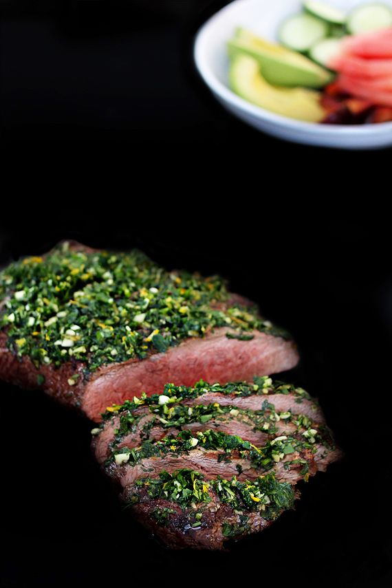 Steak with Gremolata from Erin Scott's Yummy Supper - Saveur.com's Best Writing Food Blog: http://5secondrule.typepad.com/