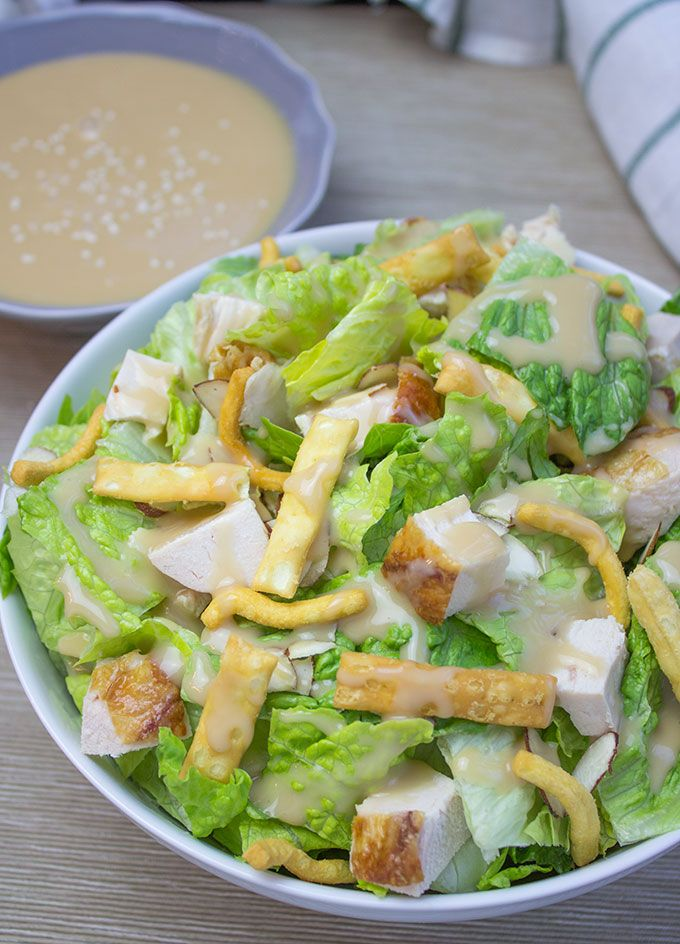 All the flavors of the Costco Chinese Style Salad Kit without the 10$ price tag and the prepackaged chicken. Delicious honey miso dressing with chicken, almond and crispy…