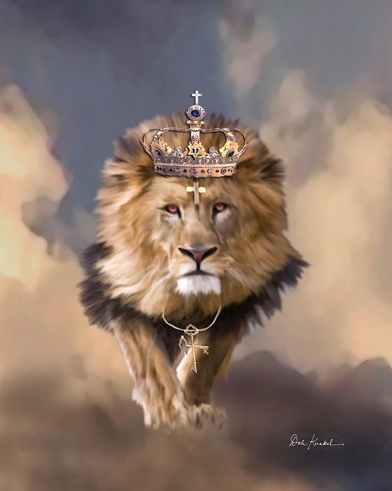 Christian Religious Art of Jesus Paintings - Lion of Judah the King of Kings Painting
