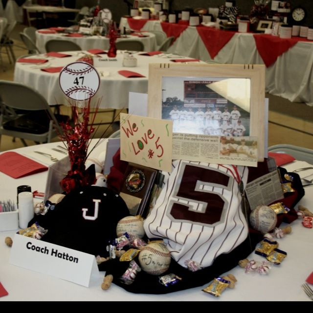 table decorations baseball theme | Baseball banquet table. More