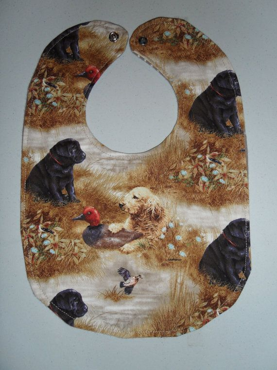 Lab Puppies Baby Bib by StarBoundWestern on Etsy, Duck hunting deer camo $6.00