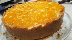Cheesecake de mandarinas con leche condensada