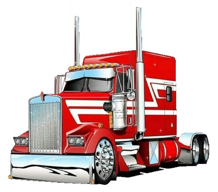 Semi Tractor Drawings : Pin by kerry sr on car truck illustrations pinterest