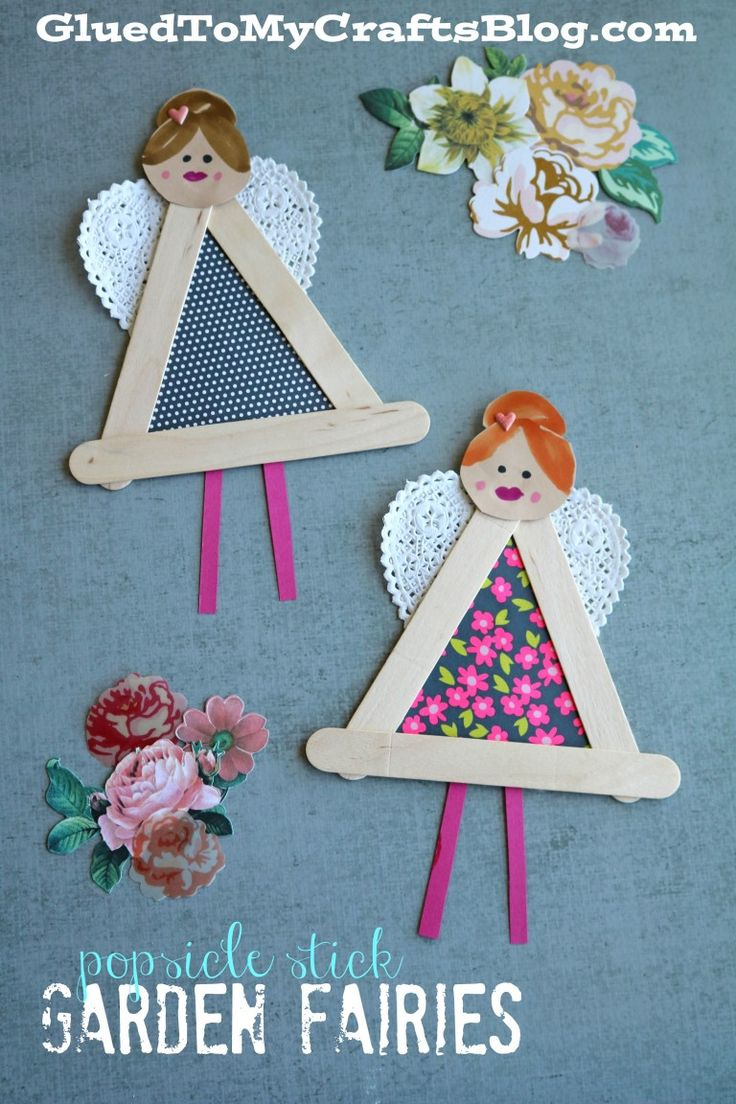 Popsicle Stick Garden Fairies - Kid Craft