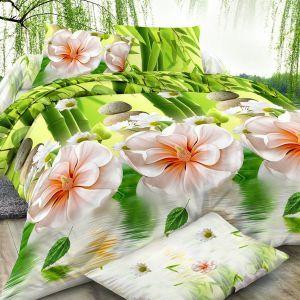 Pościel 3D - Egzotyczne Kwiaty - 160x200 cm - 3 cz - 351-09