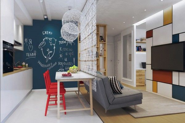 Apartment Designs For A Small Family, Young Couple And A Bachelor (All Under 50 Square Meters And Includes Floor Plans)
