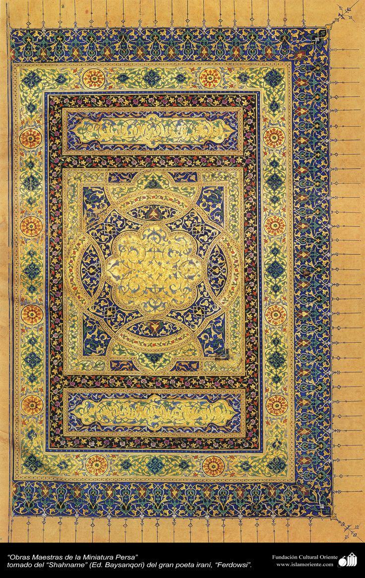 Obras Maestras de la Miniatura Persa - Shahname de Ferdowsi (Ed. Baysanqiri)- 13 | Galería de Arte Islámico y Fotografía