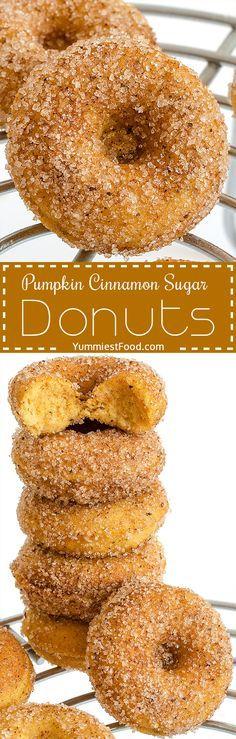 Pumpkin cinnamon sugar donuts - perfectly soft, very easy..