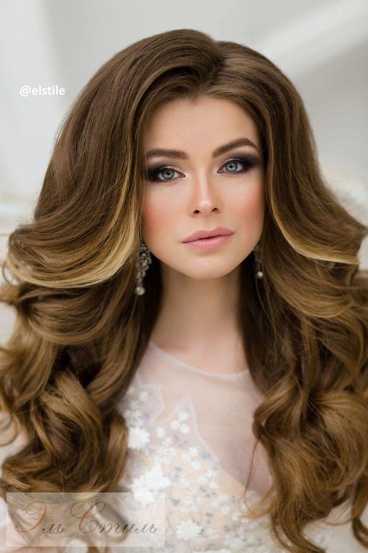 Прическа из локонов на длинные волосы