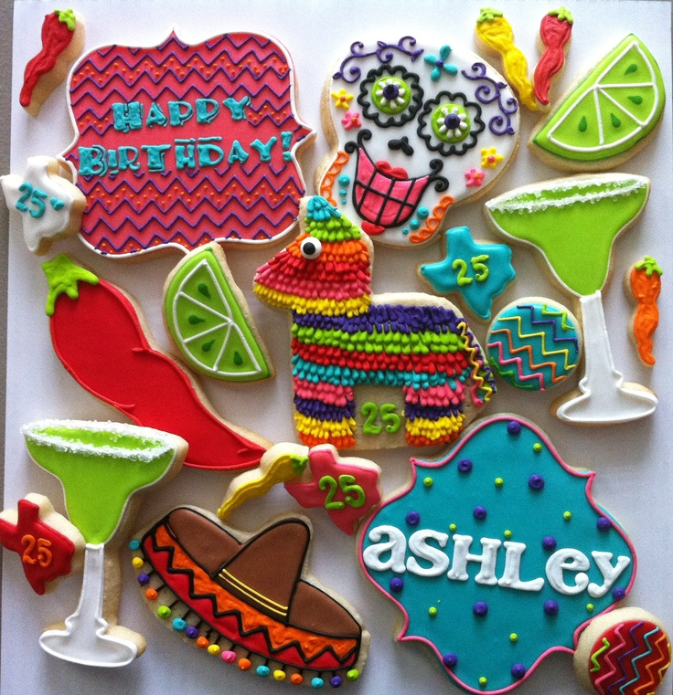 Fiesta party Cookies - HayleyCakes And Cookies
