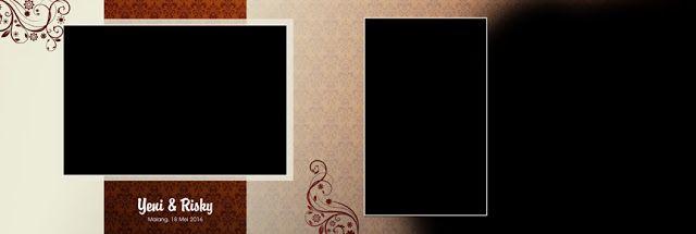 Template Album Kolase Wedding 20x60 - Floral Pattern 001 - CINTA DESAIN | Template Album Kolase | Album Kolase PSD | Kolase Wedding | Kolase Pre Wedding