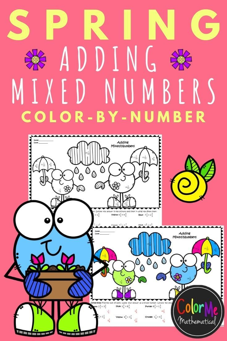 Spring Has Sprung Here S A Great Activity For Adding Fractions Specifically Adding Mixed Numbers Holiday Math Activities Spring Math Activities Holiday Math [ 1102 x 735 Pixel ]