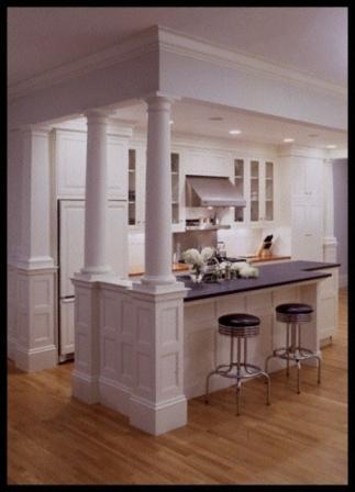 14 best Kitchen Island/Columns images on Pinterest   Kitchens, Dream ...