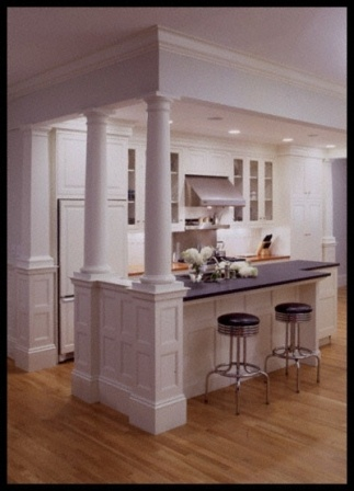 kitchen island with columns for the home pinterest