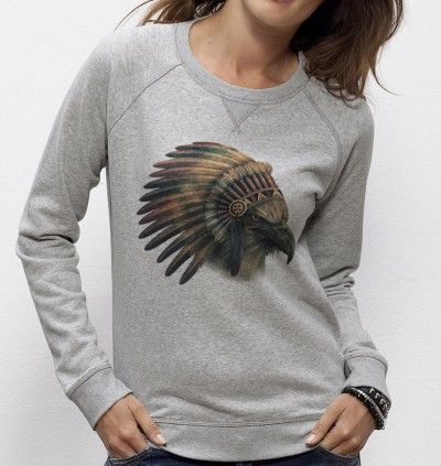 Sweatshirt Eagle Chief - Madame TSHIRT x Terry Fan  -  Dispo ici : http://www.madametshirt.com/fr/sweat-shirts/1671-sweatshirt-eagle-chief.html