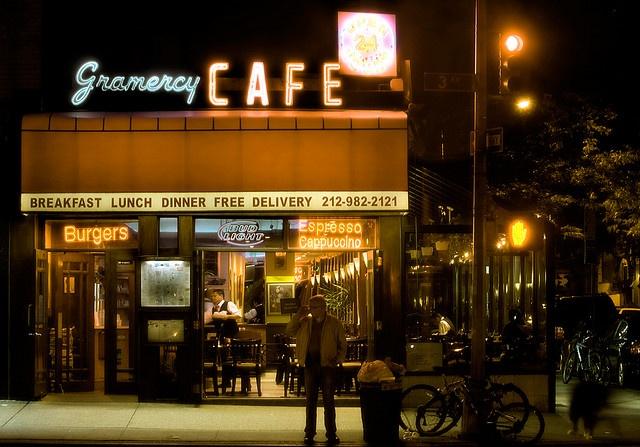 Gramercy Cafe by brandonjpro.com, via Flickr, NYC neon