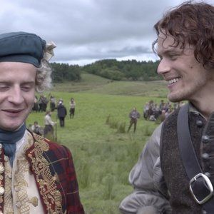 """In this exclusive clip, Andrew Gower and Sam Heughan discuss Bonnie Prince Charlie's return in the Season 3 premiere of """"Outlander,"""" and, in particular, the costume Andrew calls his """"shortbread"""" look. """"Outlander"""" airs Sundays at 8 PM ET/PT on Starz."""