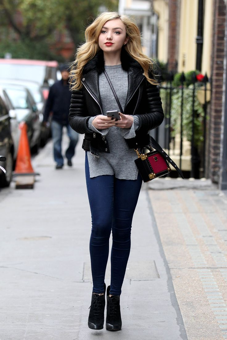 Peyton List out in London. This photo Makes me feel a little home sick. I loved London...oh..well. Sal P.