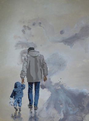 Peinture acrylique sur toile, 80x60 cm, Paimboeuf, mai 2016, 350€, disponible à la galerie ART ME, 9 rue de barillerie à Nantes....