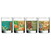 Luminarc provides stylish, modern drinkware, perfect for a night in or for entertaining company. Serve your guests a tropical beverage in one of these tiki-tastic double old-fashioned glasses. This set of four 13-oz. beer mugs is colorfully detailed with a cheerful design.