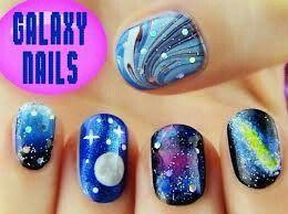 Sara beauty corner galaxy nail art