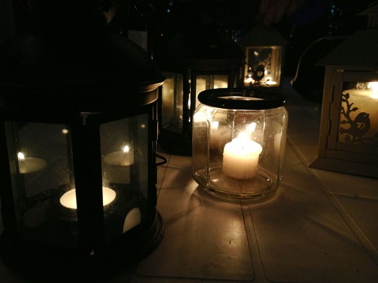 Outdoor lighting - dinner by candlelight