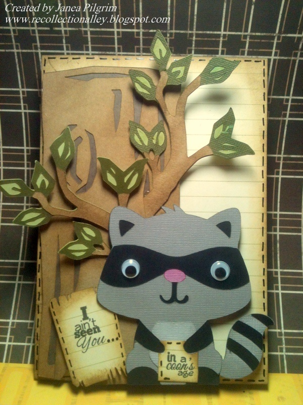 Cricut Create a Critter raccoon.  *