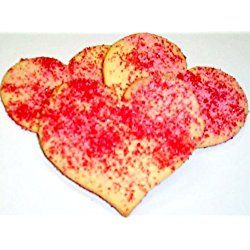 Scott's Cakes Red and Pink Sugar Heart Cookies 1lb. Box