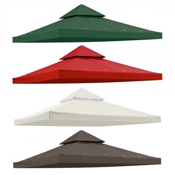 10' X 10' Gazebo Top Cover Patio Canopy Replacement Double Roof  This intelligently designed gazebo replacement canopy top cover is for most standard 10' x 10' double-roof gazebos. It is very durable and comes in three colors. It will also protect you from the sun's harmful rays.