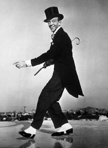 Fred Astaire. Top hat, white tie, and tails.