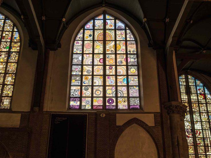 Marc Mulders ERASMUS Stained glass window Grote kerk Gouda 2016