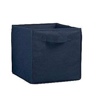 Navy Blue Non Woven Bin- Essential Home $2.99 each (not as good as itso storage bins for expedit)