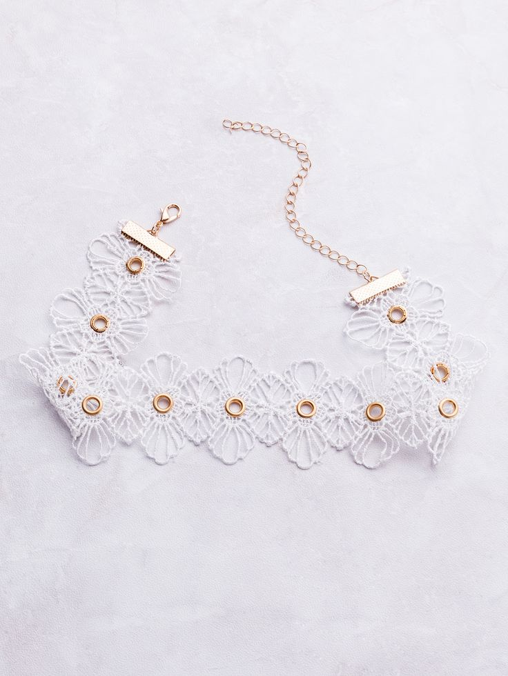 Shop White Eyelet Lace Wide Choker online. SheIn offers White Eyelet Lace Wide Choker & more to fit your fashionable needs.