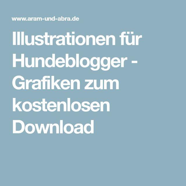 Illustrationen für Hundeblogger - Grafiken zum kostenlosen Download